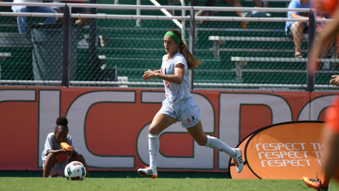 Shannon McCarthy, a Brighton native and 2015 Miami (Fla.) graduate, signed a professional contract with FC Kibi International University Charme in Takahashi City, Japan.