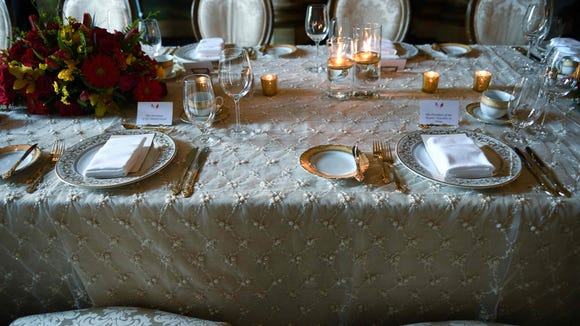 The place setting for President Trump's dinner with