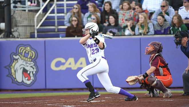 JMU's Megan Good was the 2017 Schutt Sports/NFCA DI National Player of the Year.