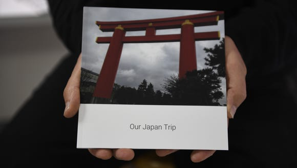 Example of a book created with Google Photos, of a