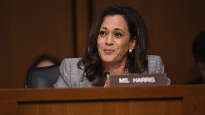 Sen. Kamala Harris questioned Attorney General Jeff Sessions by day, and spoke to the Women in Film organization at night.