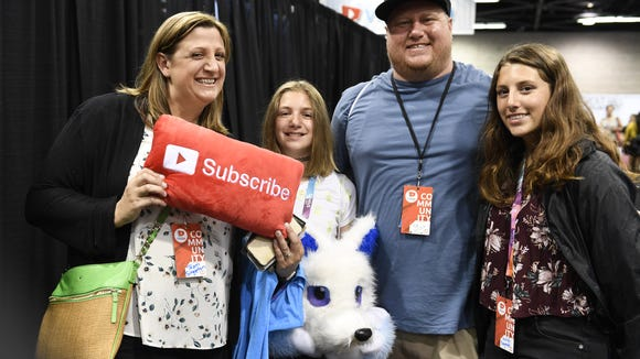 The Singleton family of Sacramento, California at VidCon.