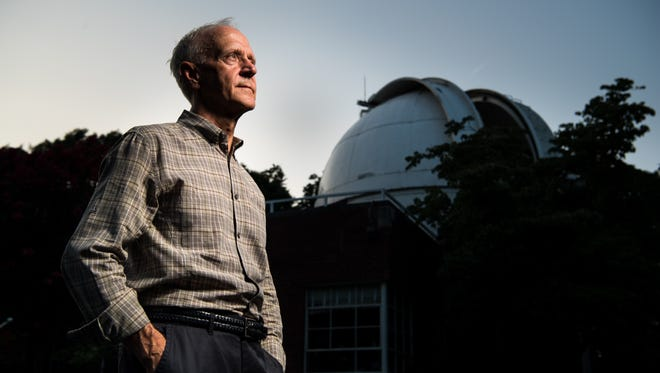 Mark Manner poses for a portrait at the Vanderbilt Dyer Observatory in Brentwood, Tenn., Friday, July 21, 2017.