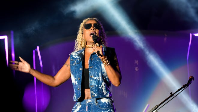 Headliner Mary J. Blige performs at the Cincinnati Music Festival in 2017.