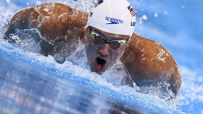 U.S. swimmer Ryan Lochte is pictured as he competes in the men's 200-meter individual medley heat during the 2016 Olympic games.