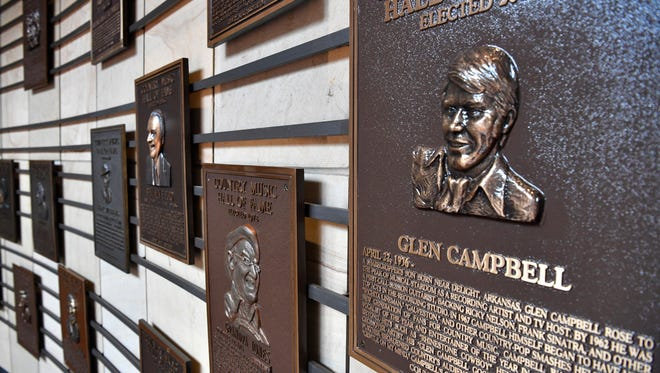 Visitors to the Country Music Hall of Fame and Museum were surprised as they found out about the death of Glen Campbell at the age of 81Tuesday Aug. 8, 2017, in Nashville, TN