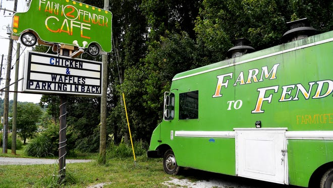 Farm to Fender Cafe, once a food truck, now has a brick-and-mortar restaurant in South Asheville on Sweeten Creek Road.