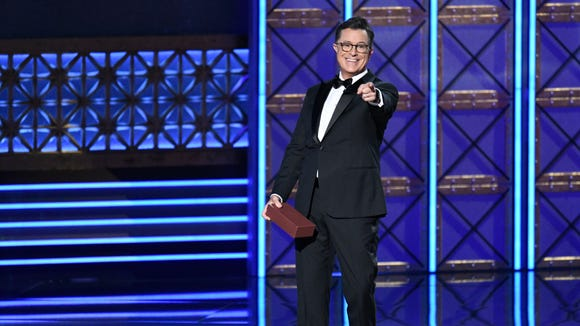 Stephen Colbert hosted the 69th Primetime Emmy Awards
