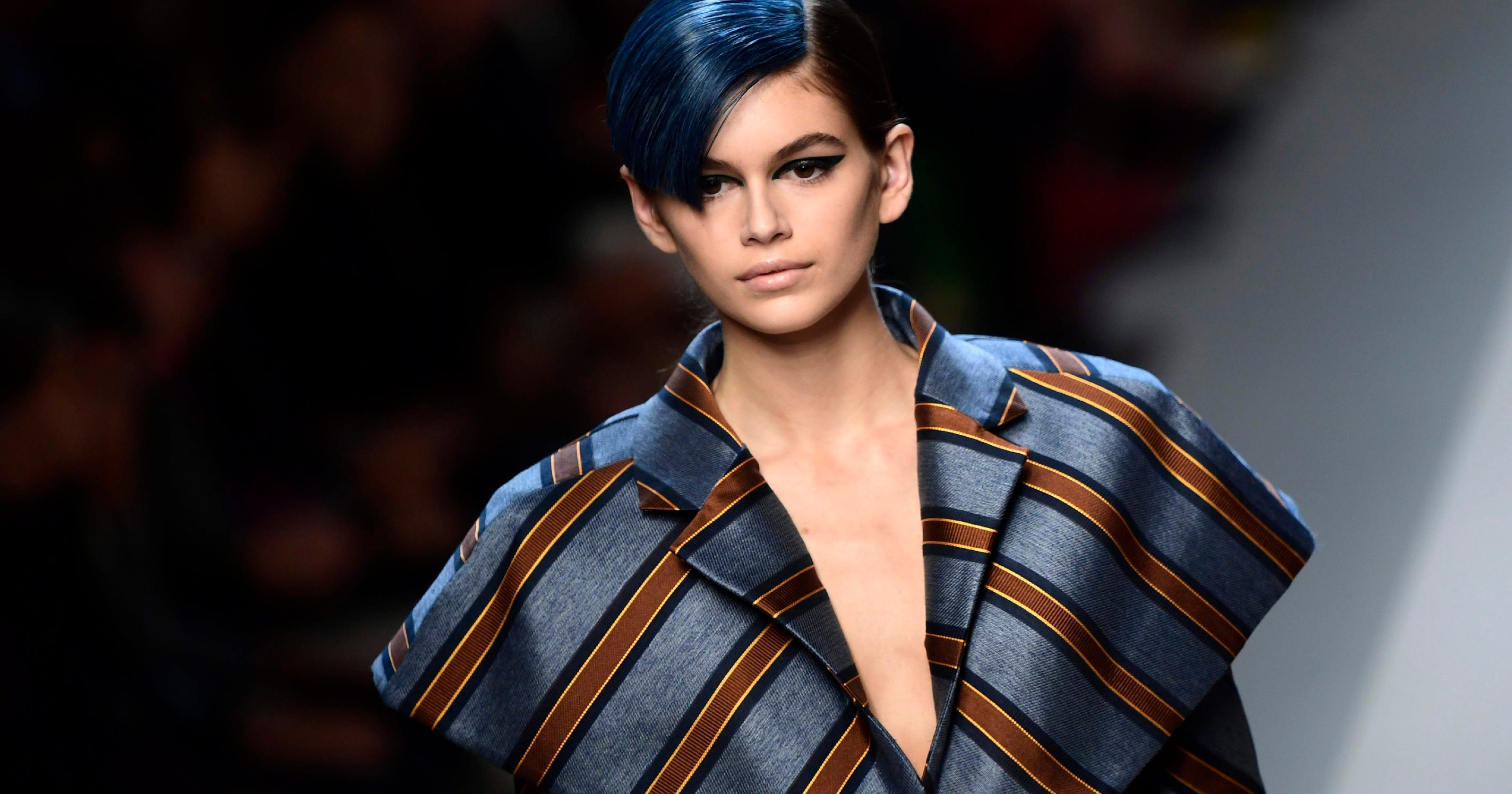 470562958e2 Fendi just gave Gigi Hadid and Kendall Jenner blue-hair makeovers