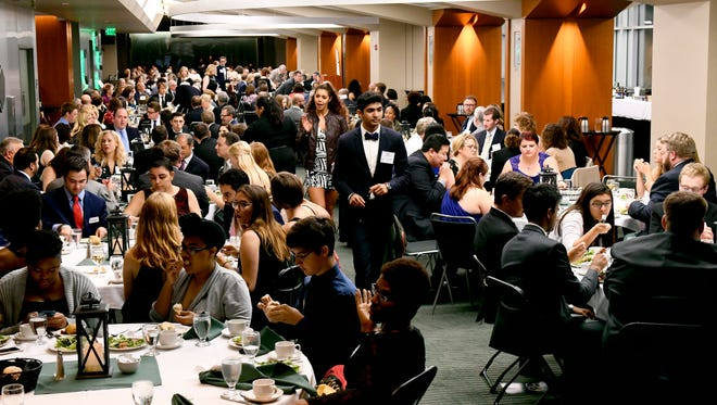 Hundreds of guests gathered in East Lansing in celebration of James Madison College's 50th anniversary Saturday, Oct. 14, 2017.