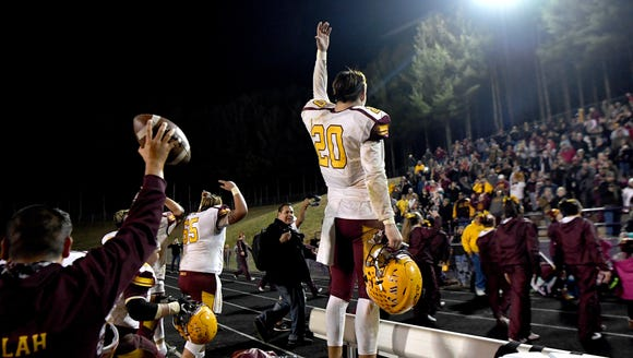 Cherokee's Holden Straughan celebrates winning the