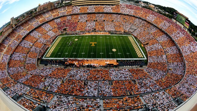 Neyland Stadium during the Georgia game last season.