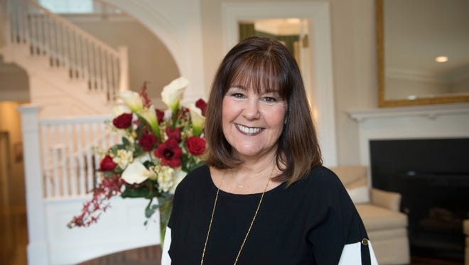 Second Lady Karen Pence in the entry foyer of Number One Observatory Circle, the vice president's residence located on the northeast grounds of the U.S. Naval Observatory in Washington, D.C.