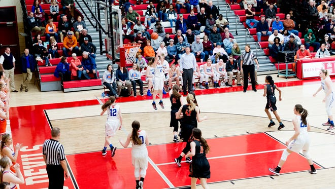 A view during a District 3AAA semifinals game between Campbell County and Clinton at Halls High School in Halls, Tennessee on Friday, February 16, 2018.