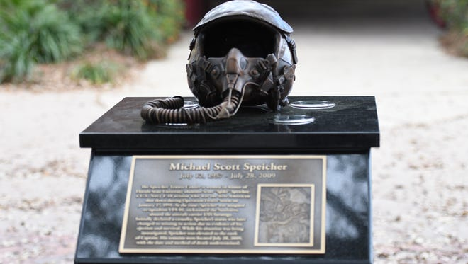Florida State honored Scott Spicher for his military service.
