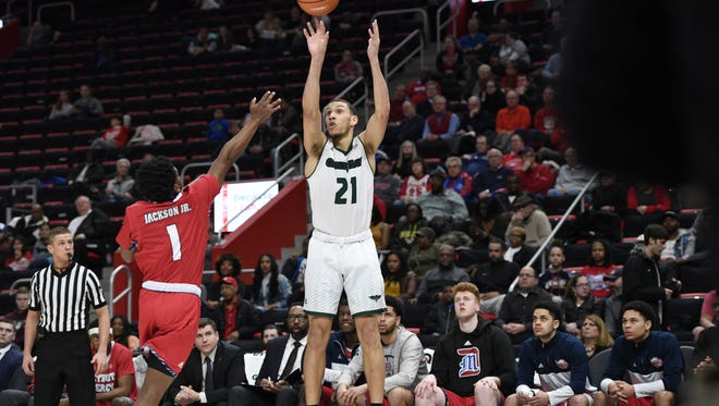 UWGB sophomore guard Kam Hankerson had a career-high 36 points against Detroit in a Horizon League tournament first-round game Friday at Little Caesars Arena in Detroit.