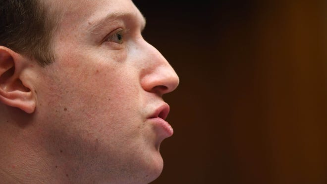 Facebook Facebook CEO Mark Zuckerberg testifies before the House Energy and Commerce Committee on April 11, 2018.