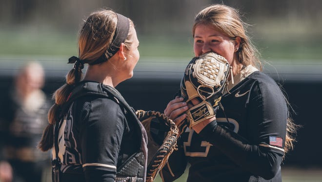 Sydney Bates, right, arrived in West Lafayette in January after transferring from Florida State.