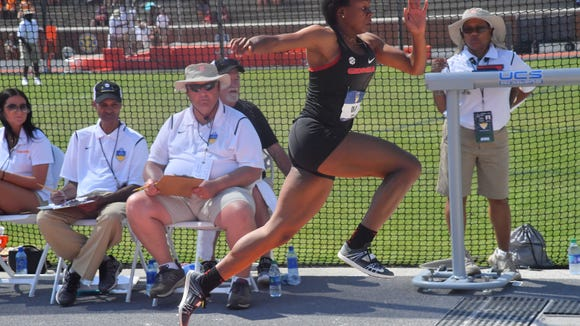 Georgia senior Keturah Orji wins the triple jump at