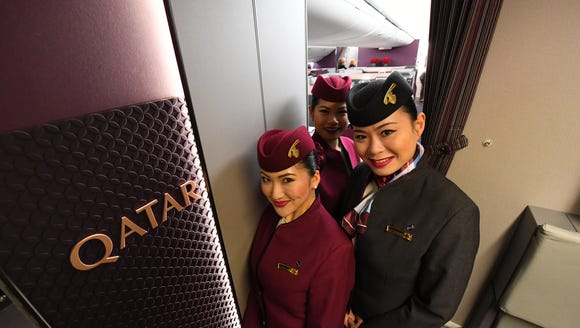 No. 2: Auckland-Doha (9,032 miles); Qatar Airways (Boeing