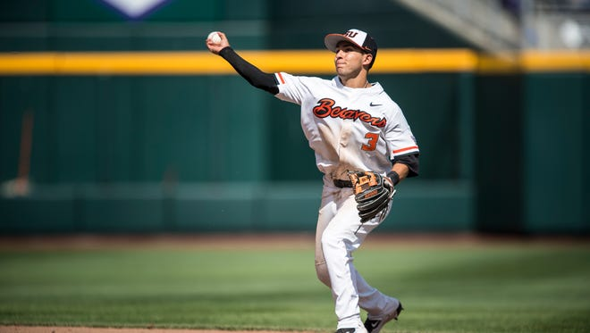 All-American second baseman Nick Madrigal was among three OSU players to be selected in the first round of the 2018 Major League Baseball draft.