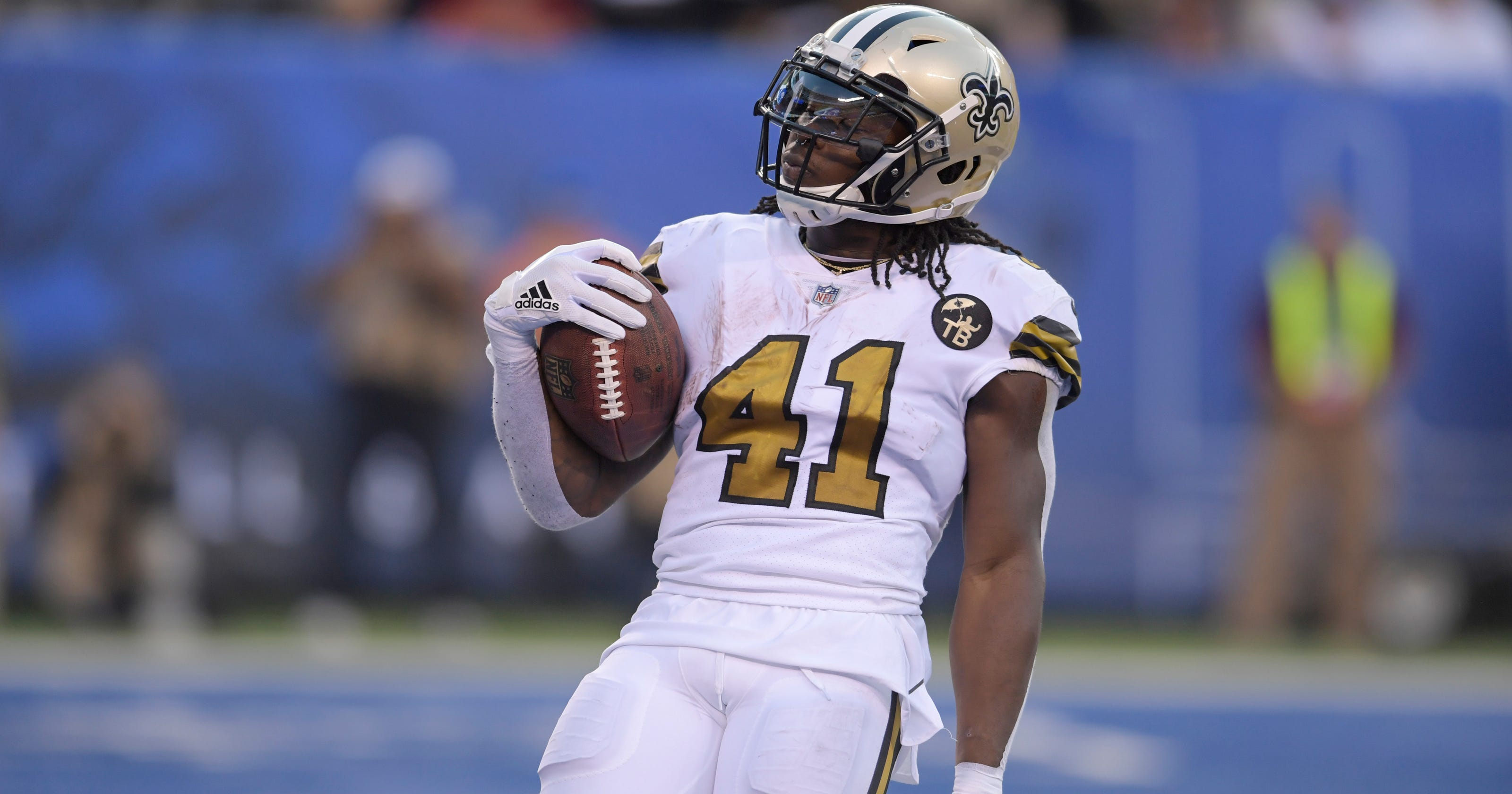 official photos e5b37 7d9c8 Alvin Kamara runs for 3 second-half TDs as Saints defeat Giants