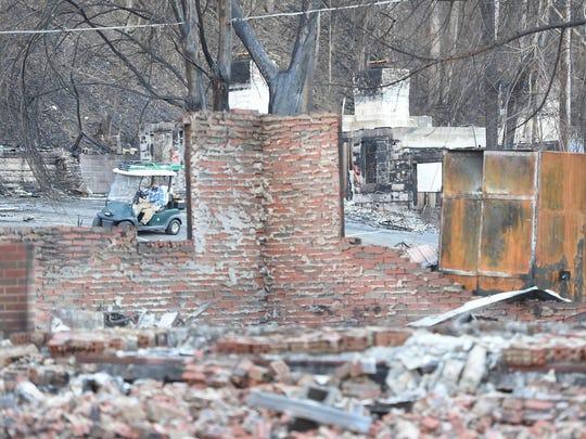 Destruction is visible at the Baskins Creek Vacation