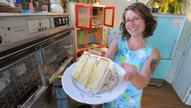 Jodi Rhoden, owner of Short Street Cakes, at her shop on Haywood Road in Asheville.