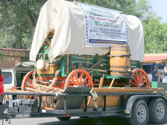 A symbol of the old West, a ranch chuckwagon, was part