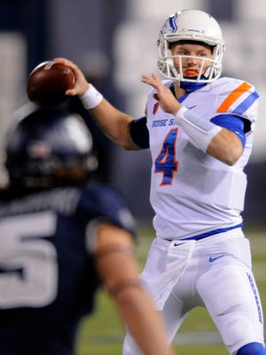 Boise State quarterback Brett Rypien threw three touchdown passes Saturday to lead the Broncos to a 41-14 win at Utah State and back to the No. 1 spot in this week's Mountain West power rankings