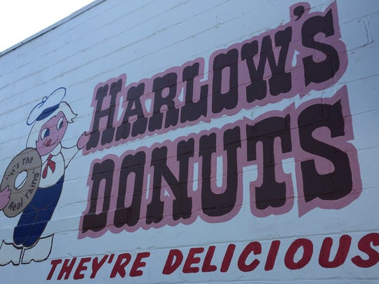 Harlow's Bakery logo painted by Pineville High School students.