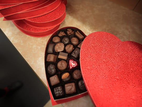 The decorative squiggle on the top of chocolates has