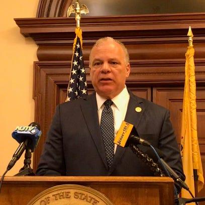 Senate President Stephen Sweeney, D-Gloucester, speaks