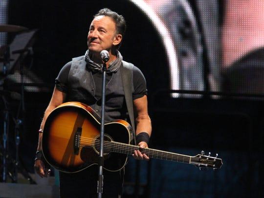 Bruce Springsteen at MetLife Stadium on Aug. 23, 2016.