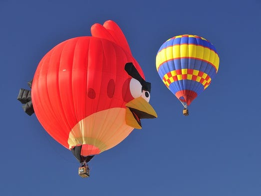 Angry Birds, sponsored by the GRBR
