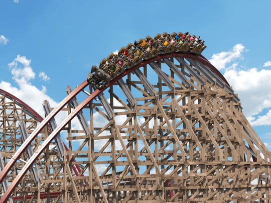 Rendering of the Steel Vengeance, the newest roller