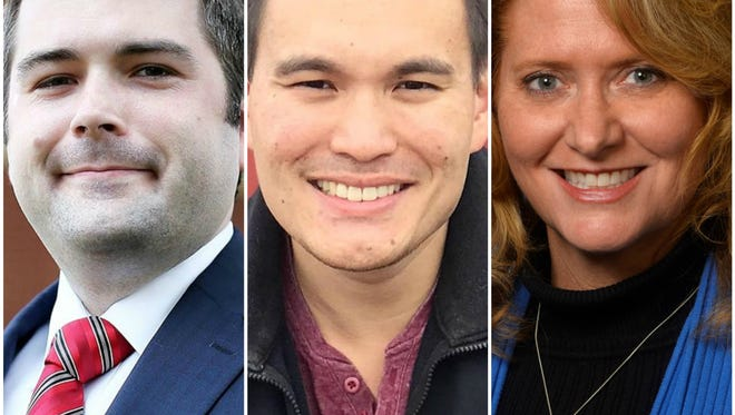 Adam Dreher, Joseph Marinaro and Lana Theis are candidates for state Senate for the 22nd District.