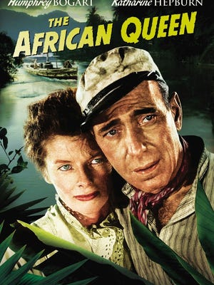 """The African Queen,"" starring Humphrey Bogart, right, and Katharine Hepburn."
