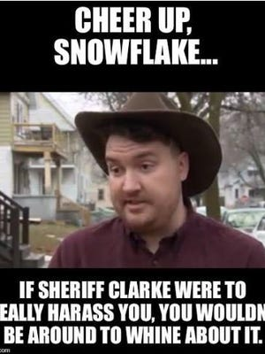 Milwaukee County Sheriff David A. Clarke Jr. posted this meme about Dan Black.