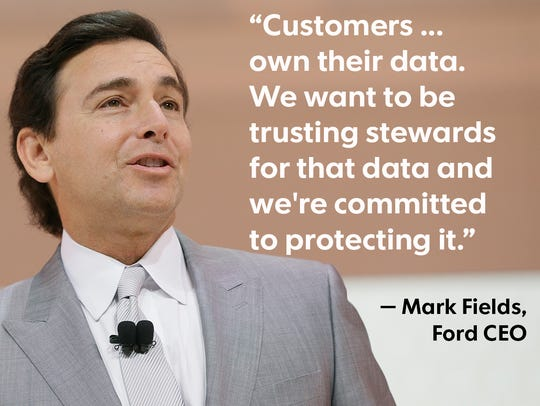 Ford CEO Mark Fields, seen here in January 2016 at