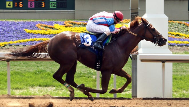 Hard Way Six wins the first ever race at Belterra Park on Thursday