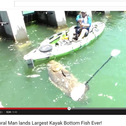 A man got the catch of a lifetime all while in his