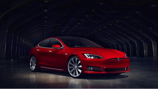 This Tesla S model with autopilot feature is type of car that crashed, killing its driver in May.