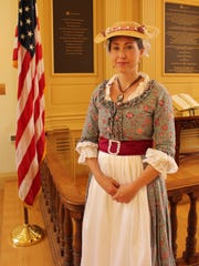 Noel Stewart will portray Abigail Adams during Monday's