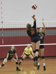 Union-Endicott's Emmalyn LaPier tries to beat the Vestal