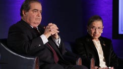 Justices Antonin Scalia and Ruth Bader Ginsburg in
