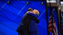 President Obama and Hillary Clinton's hug was the most