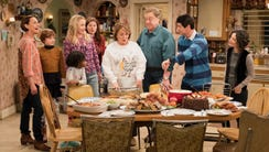 "The Conner family on ""Roseanne."""