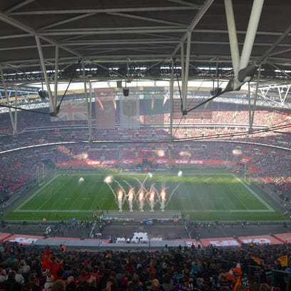 General view of game 14 of the NFL International Series between the Detroit Lions and the Kansas City Chiefs at Wembley Stadium. The Bengals will play there in 2016.
