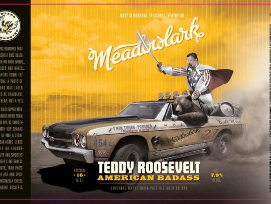 A label for Meadowlark Brewing's Teddy Roosevelt American